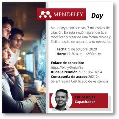 Capacitación de Mendeley